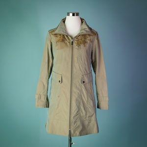 Cole Haan Small Tan Trench Rain Coat Jacket